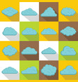 clouds icons set flat style vector image