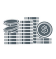 coin stacks money and finance banking business vector image vector image