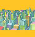 colorful buildings of the modern city background vector image vector image
