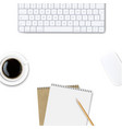 computer keyboard frame isolated background vector image vector image