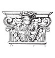 corinthian pilaster capital colosseum vintage vector image vector image