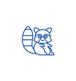 cute badger line icon concept cute badger flat vector image vector image