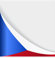 czech flag background vector image vector image