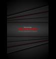dark abstract technology flyer design vector image vector image