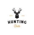 deer hunter logo head logo design vector image vector image