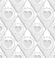 elegant pattern with hearts in rhombus background vector image vector image