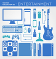 entertainment collection vector image vector image