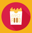 fast food word sign logo icon design template vector image vector image