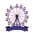ferris wheel ribbon vector image