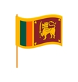 Flag of Sri Lanka icon cartoon style vector image vector image