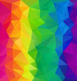 full spectrum rainbow polygon triangular pattern vector image vector image