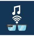 glasses technology music application media vector image vector image