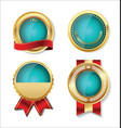 golden empty badge collection 2 vector image