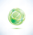 Green glass ball vector image