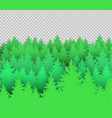 green spruce forest vector image vector image
