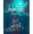 Halloween Party Poster Halloween vector image vector image