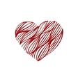 Hand drawn heart vector image vector image