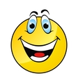Happy yellow smile face vector image vector image