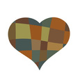 Heart mosaic symbol vector image vector image
