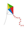 isolated kite toy icon vector image