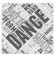 Jazz as Dance Word Cloud Concept vector image