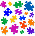 jigsaw pieces vector image