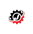 letter j gear logo design template vector image vector image