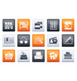library and books icons over color background vector image vector image