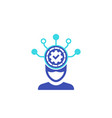 machine learning icon on white vector image vector image