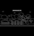 madagascar silhouette skyline city vector image vector image