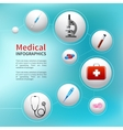 Medical bubble infographic vector image vector image