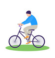 men riding bike flat design element flat vector image
