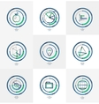 Minimal thin line design web icon set vector image vector image