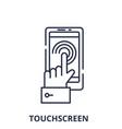 mobile touchscreen line icon concept mobil vector image vector image