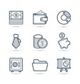 money black line icon pack eps 10 vector image vector image