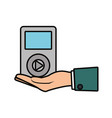 music player device icon vector image