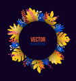 natural in trendy flat style with colorful exotic vector image vector image