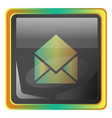open message grey square icon with yellow and vector image vector image