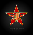original red star with Gold border and description vector image vector image