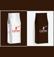 pack of coffee vector image vector image