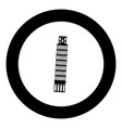 pisa tower black icon in circle vector image vector image