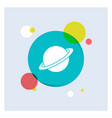 planet space moon flag mars white glyph icon vector image