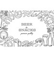 pub food template frame and page design vector image vector image