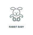 rabbit ba line icon linear concept vector image