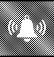 ringing bell icon icon hole in moire vector image