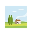 Rural Landscape with House vector image