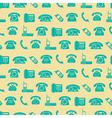seamless background with telephone icons vector image vector image