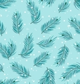 Seamless Pattern with Fir Twigs vector image