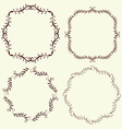 Set of 4 hand drawn frames vector image