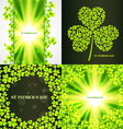 set of saint patricks day background vector image